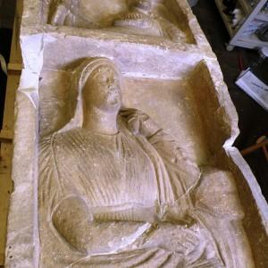4 th C grave stele detail breaks